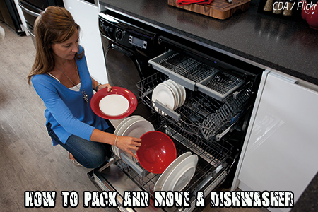 How to pack and move a dishwasher