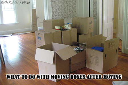 What to do with moving boxes after a move