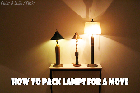 Packing lamps for moving